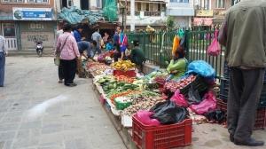 A City Market in Kathmandu